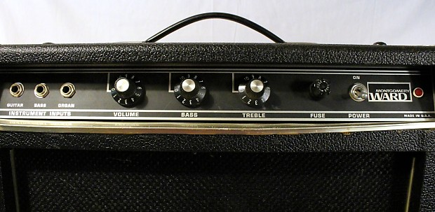 Vintage montgomery ward 3 channel guitar bass organ reverb for Classic house organ bass