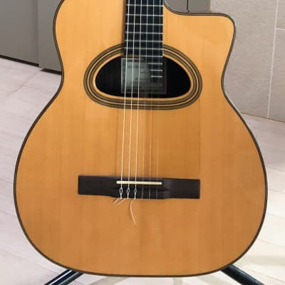 Maurice Dupont MCC-30 1995 Natural Jazz Nylon Gypsy Guitar (Selmer Style) for sale