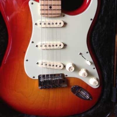Fender American Deluxe Stratocaster 2010 Cherry Sunburst for sale