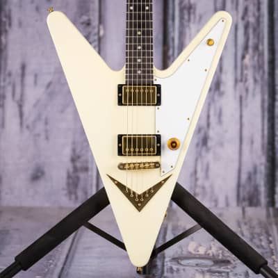 Used 2007 Gibson Limited Edition Reverse Flying V, Vintage White With Gold Hardware for sale