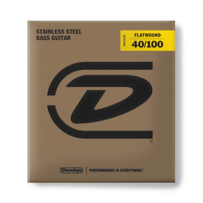Dunlop Bass Flatwound Long Scale 40/100 4/Set Dbfs40100