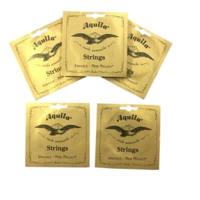 Aquila Ukulele Strings 5 Pack Tenor Regular Nylgut Made in Italy