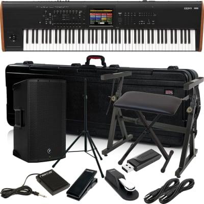 Korg Kronos 2 88-key Synthesizer Workstation – Music Workstation, Gator GTSA-KEY88, Mackie Thump12A, Speaker Stand, Plixio Stand, Bench, Sustain Pedal, Nektar NX-P, Nektar NP1, (2) 1/4 Cables, 64GB USB Stick Bundle