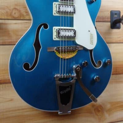 Gretsch® G5410T Ltd Ed Electromatic Tri-Five Hollow Body Two-Tone Ocean Turquoise Vintage White