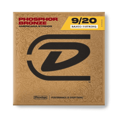 Dunlop DJP0920 Phosphor Bronze Banjo Strings - Light (9-20)