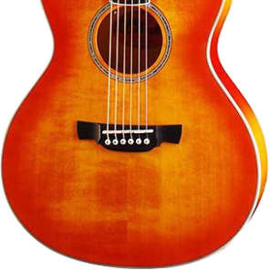 Crafter Castaway A/OS Acoustic Guitar Orange Burst for sale