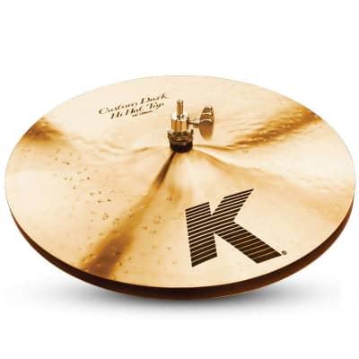 "Zildjian 14"" K Custom Dark Hi-Hat Cymbal (Top)"