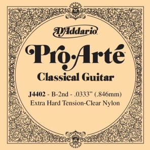 D'Addario J4402 Pro-Arte Nylon Classical Guitar Single String Extra-Hard Tension Second String