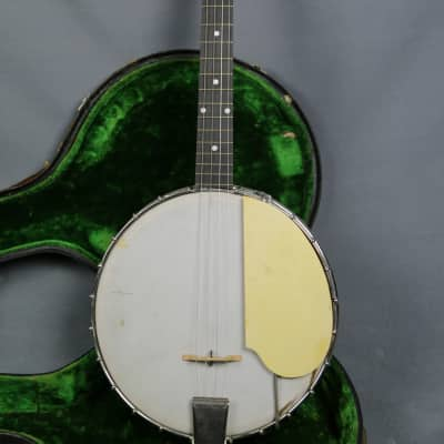 Unknown  Tenor Banjo Mandolin  Project ! Needs Work !!!  1930-40's Comes with  OHSC