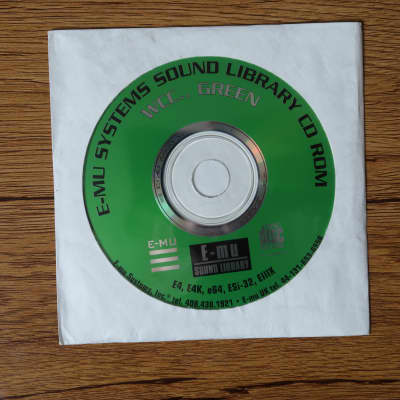 E-MU Systems WCC.. Green Sound Library CD-ROM