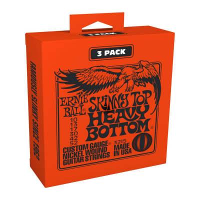 Ernie Ball Skinny Top Heavy Bottom Slinky 10-52 Nickel Wound Electric Guitar Strings  3 Pack