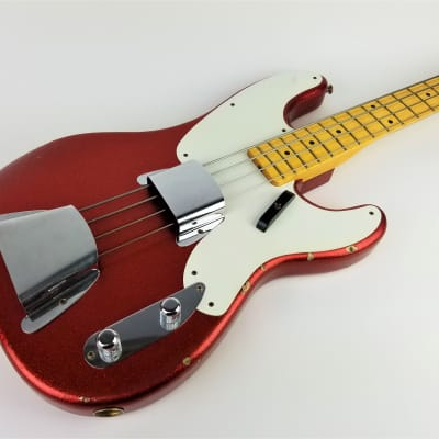 Fender Custom Shop Ltd. Ed. '55 Precision Relic 2015 Aged Red Sparkle Relic for sale