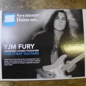 Seymour Duncan YJM Fury Prewired Pickguard For Fender Strat Stratocaster Black