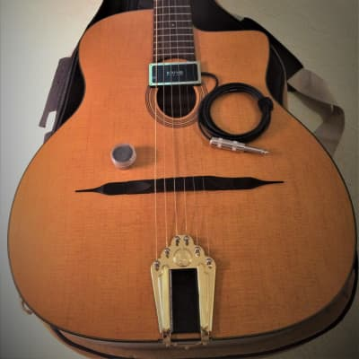 VV:  IMMACULATE Cigano G-10 Gypsy Jazz Guitar w/deluxe bag, KRIVO PICKUP, ToneRite, THIS IS A STEAL for sale