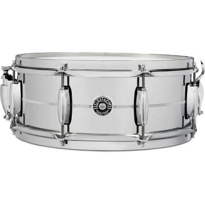 "Gretsch GB4160 Brooklyn Chrome Over Brass 5x14"" 8-Lug Snare Drum"