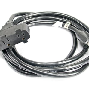Elite Core Audio SPTT-12-10 Stage Power Triple Tap 12 AWG Power Cable - 10'