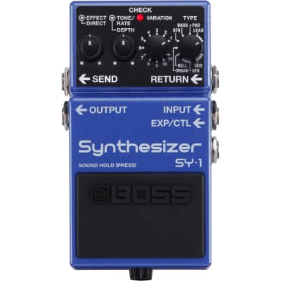 NEW BOSS SY-1 Guitar Synthesizer Pedal 121 different Synths / Organs / Leads / Pads / Basses / Rhythmic Patterns /