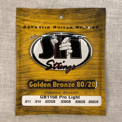 SIT GB1150 Golden Bronze 80/20 Acoustic Guitar Strings - Pro Light (11-50)