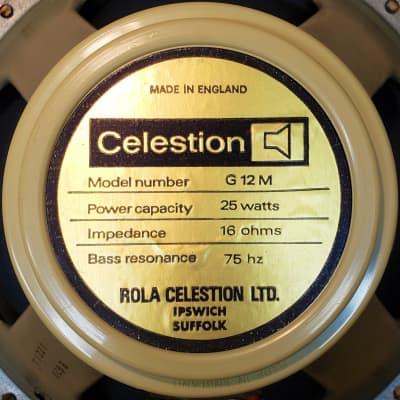 x2 Celestion T1211 G12M 75 Hz 16 Ohm Creamback RIC Cone