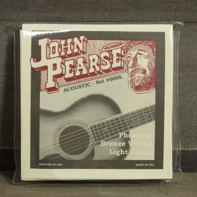 John Pearse PB600L Phosphor Bronze Light Acoustic Guitar Strings - 12/53 for sale