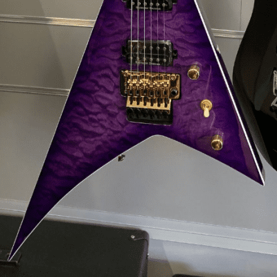 Jackson RANDY RHOADS PRO SERIES RR24Q Quilted Transparent Purple for sale
