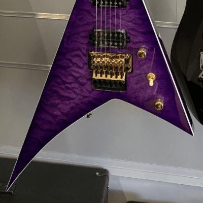 Jackson RANDY RHOADS PRO SERIES RR24Q Quilted Transparent Purple