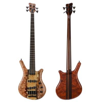 Warwick Masterbuilt Thumb NT 4-String Electric Bass - Natural Transparent High Polish River Finish