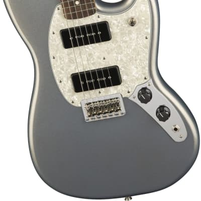 Fender Mustang 90, Silver for sale