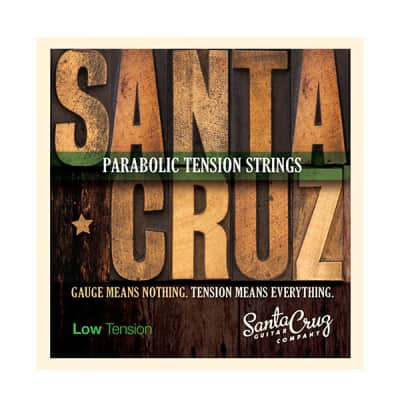Santa Cruz Parabolic Tension Acoustic Guitar Strings Low Tension image