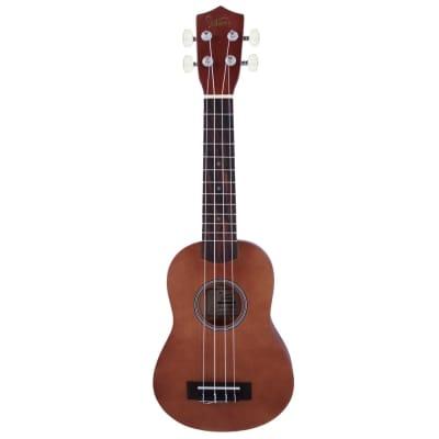 Glarry UK101 21inch Soprano Rosewood Fingerboard Basswood Ukulele Brown for sale