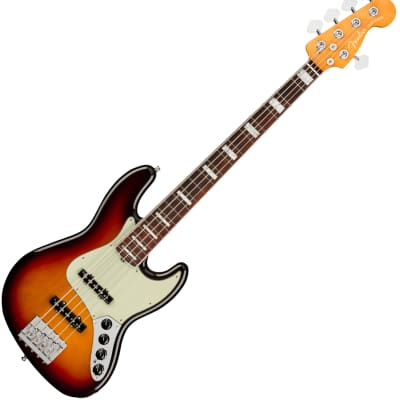 Fender 0199030712 American Ultra Jazz Bass V 5-String Bass, Rosewood Fingerboard, Ultraburst for sale