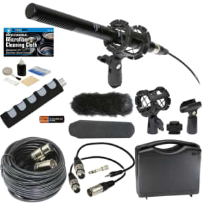 Professional Advanced Broadcast Microphone & accessories Kit for Canon, Nikon D-SLR & Video Cameras