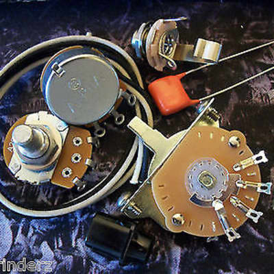 Quality Wiring Harness Kit for Telecaster US Spec Parts .047uf Orange Drop Cloth Wire