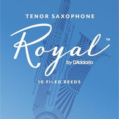 Rico Royal Tenor Saxophone Reeds Strength 2-1/2, Box of 10