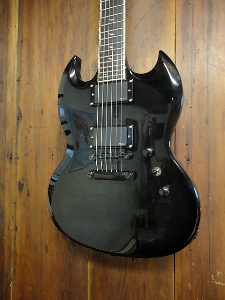 Epiphone By Gibson Sg Custom Prophecy Midnight Ebony Reverb