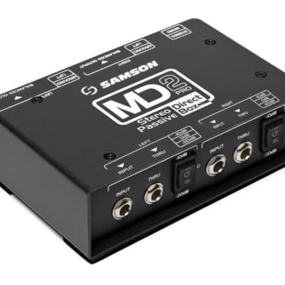 Samson MD2 Pro S-Max Series Stereo Passive Direct Box
