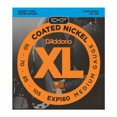D'Addario EXL160 Nickel Wound Long Scale Bass Guitar Strings, Medium Gauge