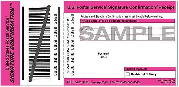 Usps Ups Fedex Signature Confirmation Reverb