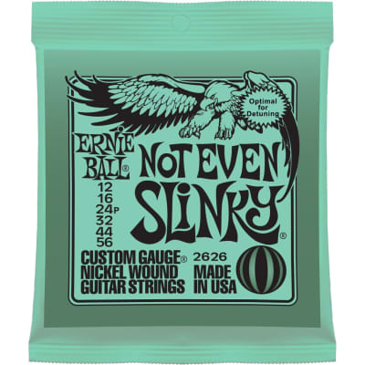 Ernie Ball Not Even Slinky Nickel Wound Electric Guitar Strings 012 .016 .024p .032 .044 .056