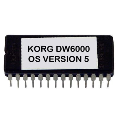 Korg DW-6000 Os Version 5 Firmware Update Upgrade Eprom DW6000 Vintage Synth