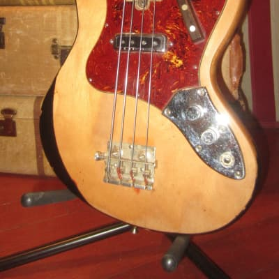 1967 Teisco / Kingston Single Pickup Solidbody Bass Natural for sale