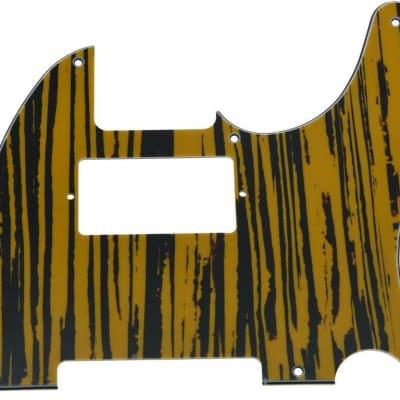 *NEW Tiger Stripe HUMBUCKER Telecaster PICKGUARD for USA Fender Tele 8 Hole image