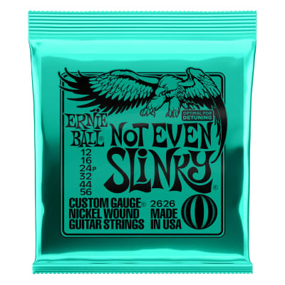 Ernie Ball Electric Guitar Nickel Not Even Slinky 12-56