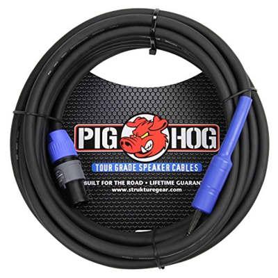 Pig Hog PHSC25S14 14 Gauge Speaker Cable Speakon to 1/4in, 25 ft