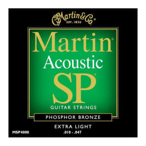 Martin MSP-4000 SP 92/8 Phosphor Bronze Extra Light Acoustic Strings