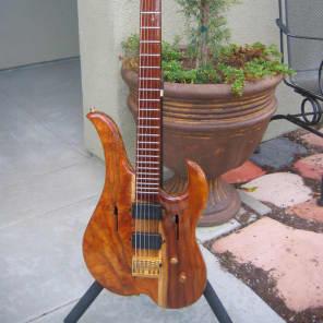 Linc Luthier Baritone electric 1997 natural koa for sale