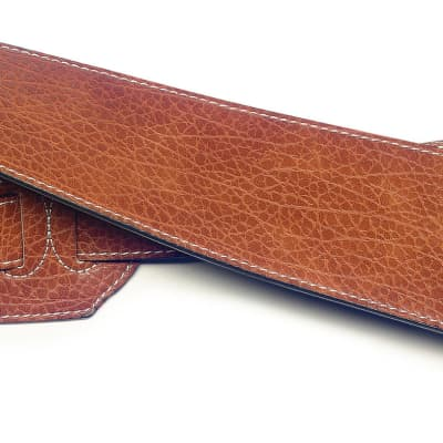 Stagg Brown Leatherette Guitar Strap