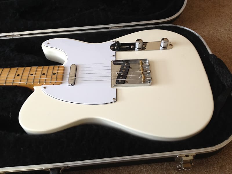 Fender Telecaster with Baja Neck SD STK-T Neck pickup 4 way HSC Olympic  White