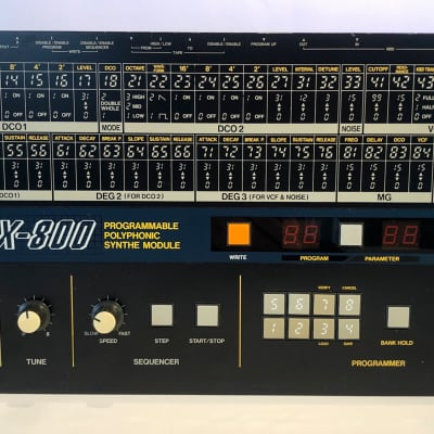 KORG EX- 800 rack version of the POLY 800! 8 voices of polyphony excellent condition! 1984