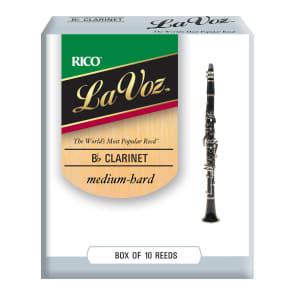 Rico RCC10MH La Voz Bb Clarinet Reeds - Strength Medium-Hard (10-Pack)